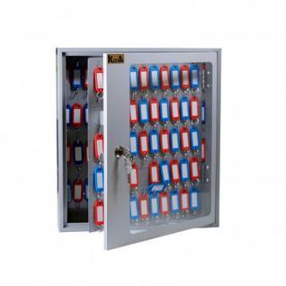 Шкаф для ключей Klesto SKB-102 на 102 ключа, серый, металл/стекло