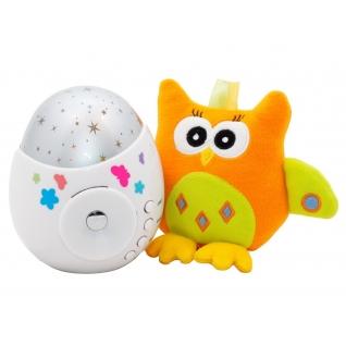 Ночник-проектор звездного неба Colibri с игрушкой (звук), 12 см Roxy-Kids