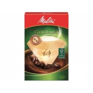 Фильтры бумажные Melitta для заваривания кофе 1х4/80 гурме, коричневые (0100970)