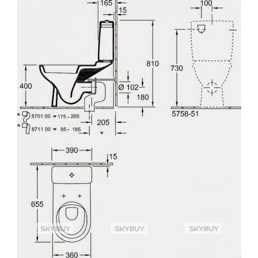 Унитаз-компакт Villeroy & Boch O'Novo 5658 1001 alpin 38052508 1