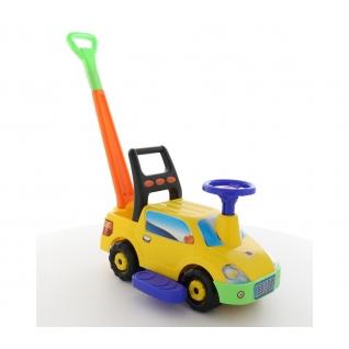 """Автомобиль-каталка """"Пикап"""" с ручкой - №2 (жёлтый) Полесье"""