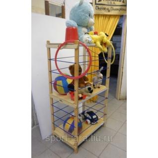 Стеллаж для хранения мячей, игрушек, инвентаря