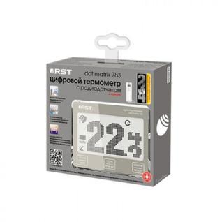 Термометр цифровой с радиодатчиком, точечно-матричный дисплей RST 02783