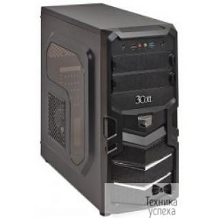 3Cott 3Cott 1815 ATX w/o PSU, окно USB 3.0( с доп.коннектором USB 2.0), 2х 12см LED новые красные вент-ры, Black