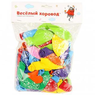 Набор шаров разноцветный цвет в асс., 30 см, 100 шт/уп арт.KL40925