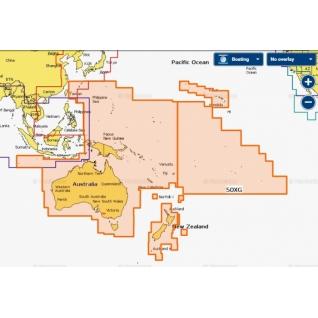Карта Navionics+ Австралия, Новая Зеландия и Тихий океан (50XG)