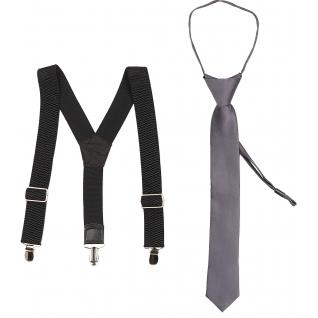 Набор подарочный подтяжки и галстук подростковый