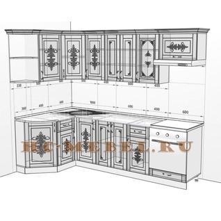 Кухня БЕЛАРУСЬ-1В УГЛОВАЯ модульная, правая, левая
