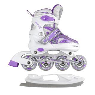 Набор подростковых коньков Maxcity Volt Ice, фиолетовый размер 39-42