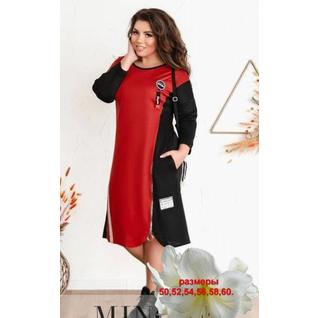 Комбинированное платье Молния большого размера р.50-60