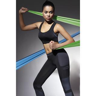 Короткая топ-майка для фитнеса Teamtop черный с серым S Teamtop 30 Bas Bleu