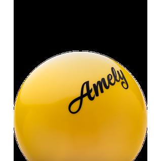 Мяч для художественной гимнастики Amely Agb-101, 19 см, желтый