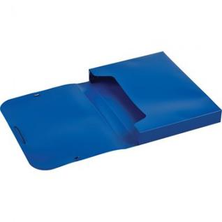 Папка на резинках -короб ATTACHE,синий 318/045