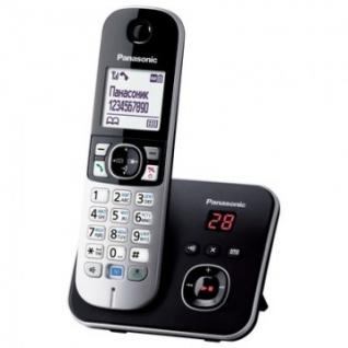 Радиотелефон Panasonic KX-TG6821RUB чёрно-серый