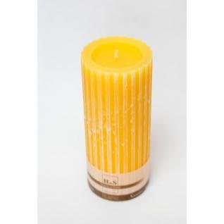 Свеча декоративная рифленая оранжевая