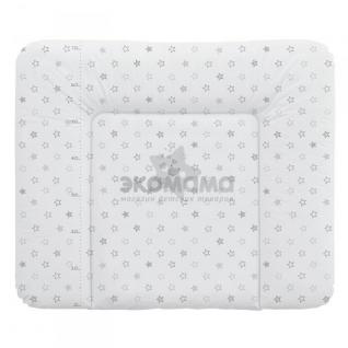 Пеленальный матрац 70x85 см Ceba Baby мягкий на комод - W-134-066-260 Stars Grey