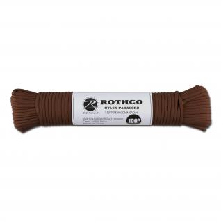 Rothco Паракорд 550 lb коричневого цвета 100 фт. нейлон
