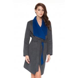 Пальто ODRI 16110507 Пальто ODRI DOROTHEA GRAY MELANGE / ELECTRIC BLUE