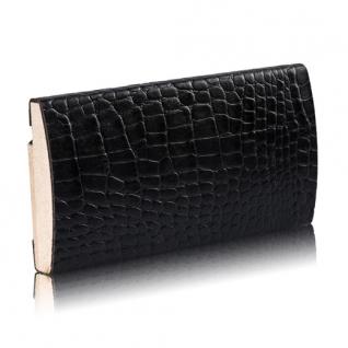 Декоративный профиль кожаный ЭЛЕГАНТ Сrocodile 55 мм (коричневый, черный)