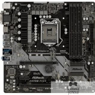 Asrock Asrock Z370M PRO4 RTL S1151, 4DDR4, Z370, 2xPCI-E Dsub+DVI+HDMI GbLAN SATA RAID Micro-ATX