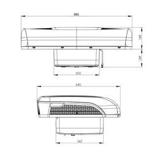 Автокондиционер стояночный CoolAir RTX 2000 Dometic