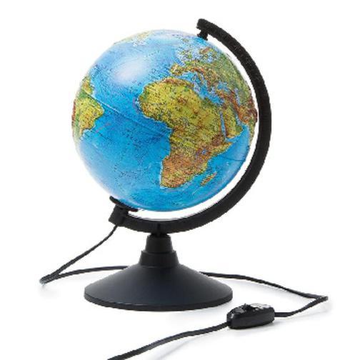 Глобус физико-политический с подсветкой рельефный,210мм 37874815