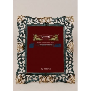 """Фоторамка из бронзы """"Венеция"""" гранд, цвет синий с золотом (размер фото 20х25)"""