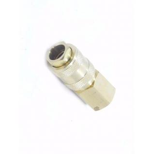 """Быстроразъем пневматический с клапаном с внутренней резьбой 1/4"""" (латунь) Partner"""