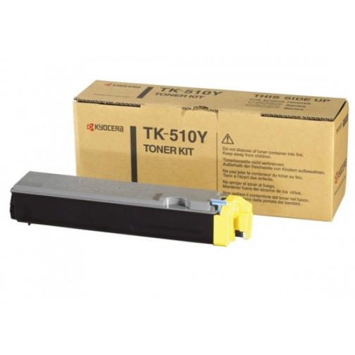 Тонер-картридж TK-510Y желтый для Kyocera FS-C5020N, C5025, C5030N, оригинальный 1316-01 852071