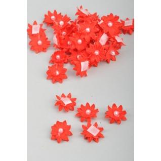 Цветок на липучке мини /d 20 мм, 25 шт/, красный