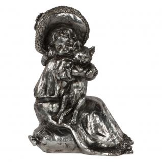 Статуэтка «Робин кот» (декоративная скульптура) (Античное серебро)