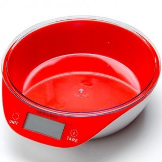 10955-1 Весы кухонные КРАСНЫЕ 5кг МВ (х12) MayerBoch