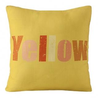"""Декоративная наволочка """"Colors"""" желтого цвета с надписью """"Yellow"""""""