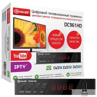 D-Color Ресивер DVB-T2 D-Color DC961HD GX3235S, DCB-C, DVB-T2 Пластик, RCA, HDMI, USB, WI Fi (Опция)