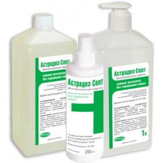 Антисептик кожный Астрадез Септ 1,0 л, без спирта(с дозатором)УТ000003065