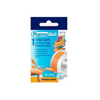 Лейкопластырь катушечный Pharmadoct тканая основа, 5m x1,25cm