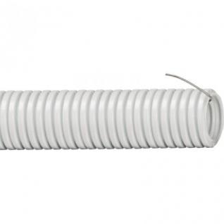 Труба ПВХ гофрированная легкая с протяжкой Рувинил d=32мм 25м