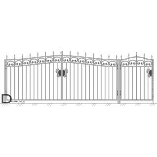 Кованые ворота и калитка В-002 (кв.м)