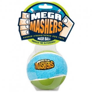 """R2P R2P игрушка для собак Mega Masher """"Мячик"""" 9 см вспененная резина с покрытием теннисного мяча"""