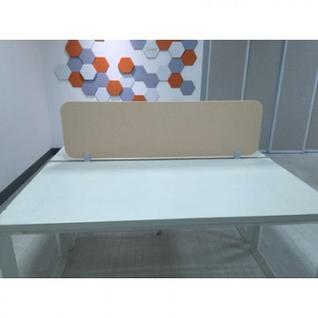 Офисные перегородки EasyAux ZEN шумопоглощающая на стол 1400х400, бежевый