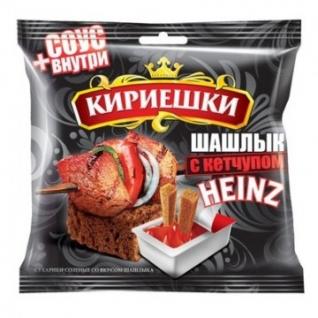 Сухарики Кириешки ржаные шашлык + кетчуп 60г+25г БС290
