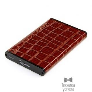 """Gembird Gembird EE2-U3S-70L-BR Внешний корпус 2.5"""" , коричневый, USB 3.0, SATA, металл+кожзам, блистер"""