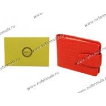Визитница Rels Фокс красный аллигатор кожа 78-0960