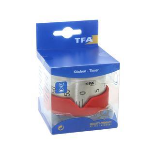 Таймер кухонный TFA DOSTMANN DOT 70x43x70мм красный TFA-Dostmann