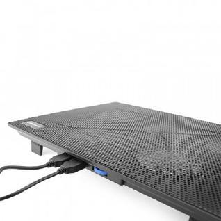 Подставка для ноутбука Crown, охлажд, до 15.6 дюйм, 5 вент, черн,CMLC-1105