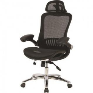 Кресло S_BN_Hg_EChair-552 TTW Net сетка черная, хром