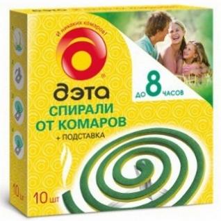 Спирали от комаров Дэта Россия