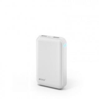 Внешний аккумулятор 07500 mAh, Li-Ion, 2xUSB, 2.1A+1A, Hiper, белый, SP7500