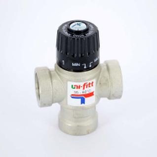 Клапан термосмесительный Uni-Fitt 3/4'' вн/вн/вн боковое смешение 35-60 град. (Италия)