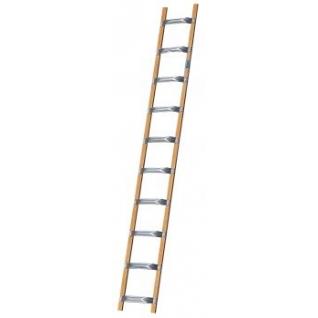 Лестница для крыши из алюминия и дерева, 10 перекладин